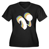 Rainbow Cochlear Implants Women's Plus Size V-Neck