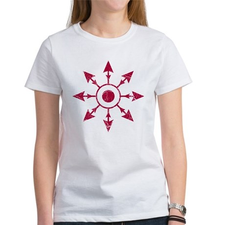 Chaos Wheel - distressed Women's T-Shirt