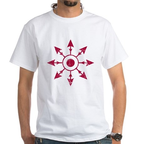 Chaos Wheel - distressed White T-Shirt