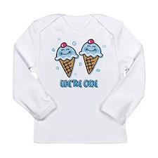 Ice Cream We're 1 Boys Long Sleeve Infant T-Shirt