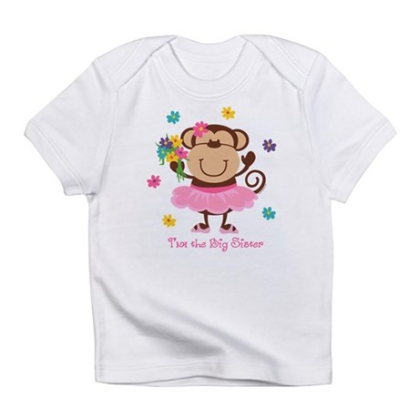 Monkey Big Sister Infant T-Shirt