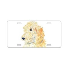Cream Labradoodle 1 Aluminum License Plate
