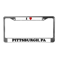 I Love Pittsburgh License Plate Frame