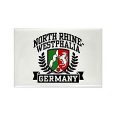 North Rhine Westphalia Germany Rectangle Magnet