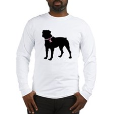 Rottweiler Breast Cancer Support Long Sleeve T-Shi