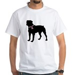 Rottweiler Breast Cancer Support White T-Shirt