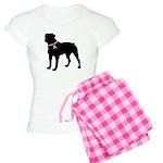Rottweiler Breast Cancer Support Women's Light Paj