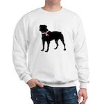 Rottweiler Breast Cancer Support Sweatshirt