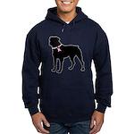 Rottweiler Breast Cancer Support Hoodie (dark)