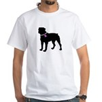 Rottweiler Breast Cancer Supp White T-Shirt