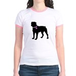 Rottweiler Breast Cancer Supp Jr. Ringer T-Shirt