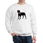 Rottweiler Breast Cancer Supp Sweatshirt
