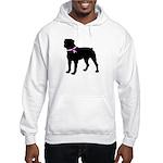 Rottweiler Breast Cancer Supp Hooded Sweatshirt