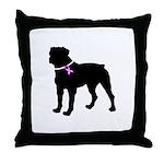 Rottweiler Breast Cancer Supp Throw Pillow