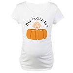 Cute Pumpkin Baby October Maternity T-Shirt