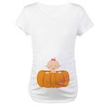 Halloween Baby Girl Pumpkin Maternity T-Shirt