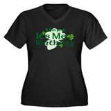 Kiss Me Irish Birthday Women's Plus Size V-Neck Da