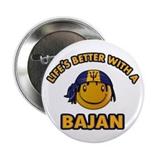 "Life's better with a Bajan 2.25"" Button (100"