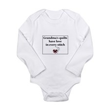 Funny Fat love Long Sleeve Infant Bodysuit