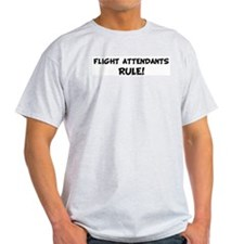 FLIGHT ATTENDANTS Rule! Ash Grey T-Shirt