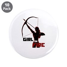 "Katniss Girl on Fire 3.5"" Button (10 pack)"