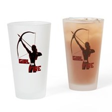 Katniss Girl on Fire Drinking Glass