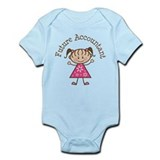 Future Accountant Girl Infant Bodysuit