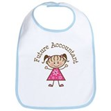 Future Accountant Girl Bib