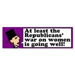 Snooty Republican War on Women Bumper Sticker