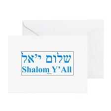 Shalom Y'All English Hebrew Greeting Cards (Pk of