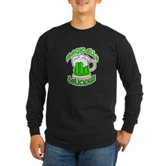 Magically Delicious Green Bee Long Sleeve Dark T-S