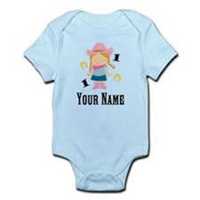 Personalized 1st Birthday Cowgirl Infant Bodysuit