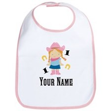 Personalized 1st Birthday Cowgirl Bib