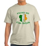 Fight Me Im Irish Clover Flag T-Shirt