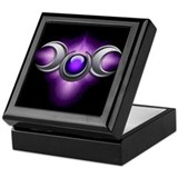 Purple Pagan Triple Goddess Keepsake Box