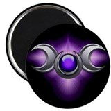 Purple Pagan Triple Goddess Magnet