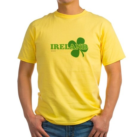 Ireland Lucky Clover Yellow T-Shirt
