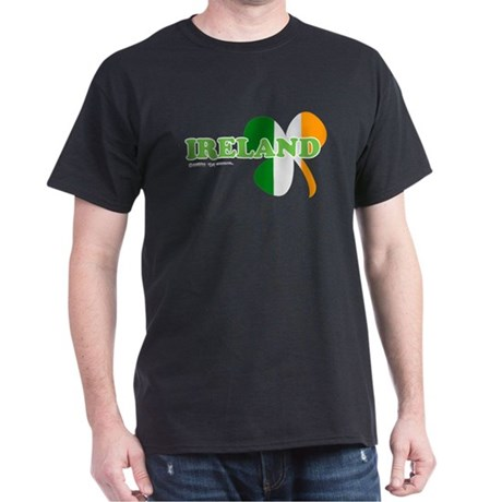 Ireland Clover Flag Dark T-Shirt