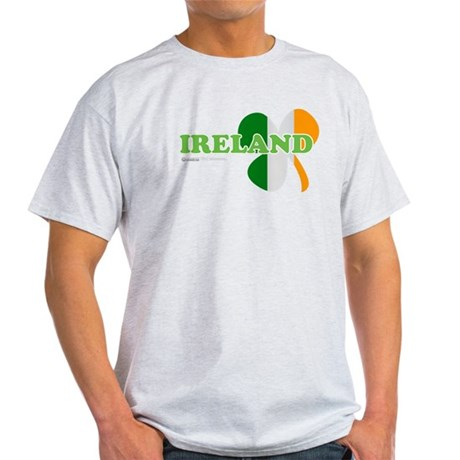Ireland Clover Flag Light T-Shirt