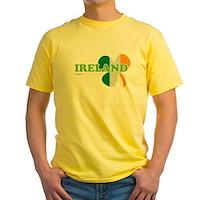 Ireland Clover Flag Yellow T-Shirt