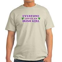 Everyone Loves An Irish Girl Pink Light T-Shirt