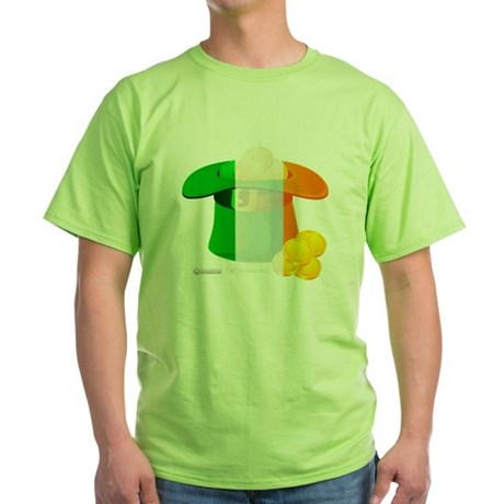 Irish Hat Flag Colors Green T-Shirt