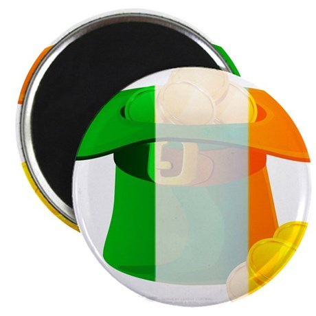 Irish Hat Flag Colors Magnet