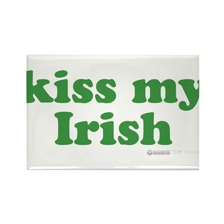 Kiss My Irish Rectangle Magnet