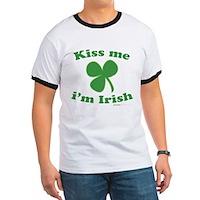 Kiss Me Im Irish Clover Ringer T