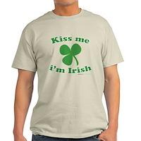 Kiss Me Im Irish Clover Light T-Shirt