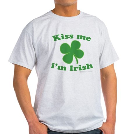 Kiss Me Im Irish Lucky Clover Light T-Shirt