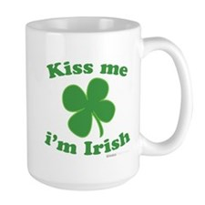 Kiss Me Im Irish Lucky Clover Mug