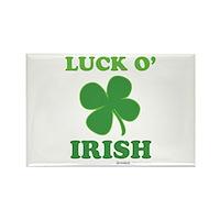 Luck O' Irish Clover Rectangle Magnet