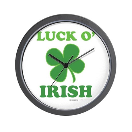 Luck O' Irish Clover Wall Clock